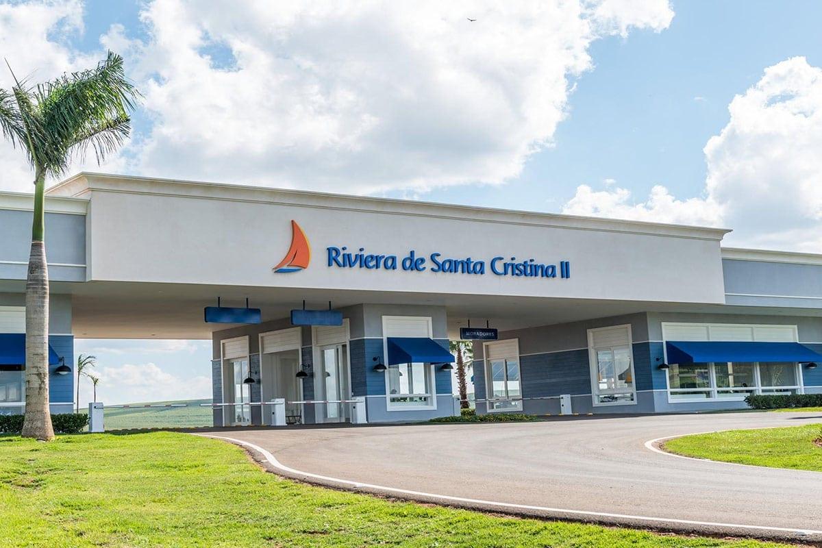Condomínio Fechado no Interior de SP   Portaria da Riviera de Santa Cristina II - Segurança 24 horas